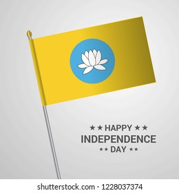 Kalmykia Independence day typographic design with flag vector