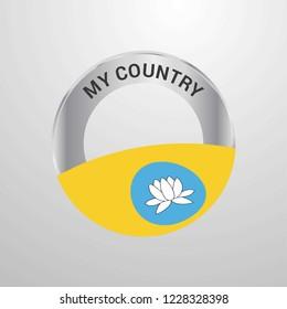 Kalmykia My Country Flag badge