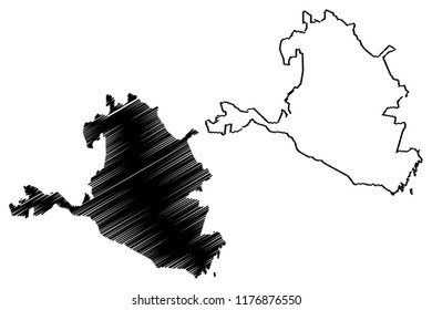 Kalmykia (Russia, Subjects of the Russian Federation, Republics of Russia) map vector illustration, scribble sketch  Republic of Kalmykia map