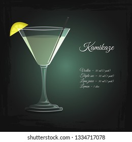 Kamikaze alcohol cocktail vector