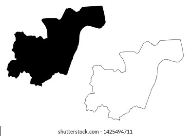 Kampong Cham Province (Kingdom of Cambodia, Kampuchea, Provinces of Cambodia) map vector illustration, scribble sketch Kampong Cham map