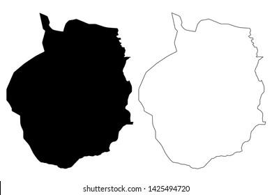 Kampong Chhnang Province (Kingdom of Cambodia, Kampuchea, Provinces of Cambodia) map vector illustration, scribble sketch Kampong Chhnang map