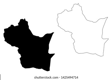 Kampong Speu Province (Kingdom of Cambodia, Kampuchea, Provinces of Cambodia) map vector illustration, scribble sketch Kampong Speu map