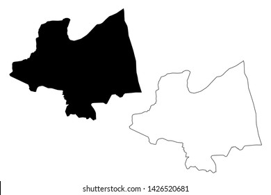 Kampong Thom Province (Kingdom of Cambodia, Kampuchea, Provinces of Cambodia) map vector illustration, scribble sketch Kampong Thom map