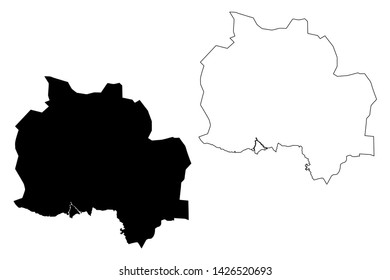 Kampot Province (Kingdom of Cambodia, Kampuchea, Provinces of Cambodia) map vector illustration, scribble sketch Kampot map