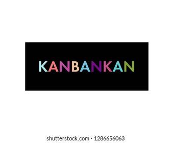 Kanban methodology t shirt print. Agile development, software production. Vector type. Black background.