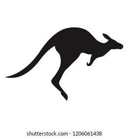 Kangaroo character logo