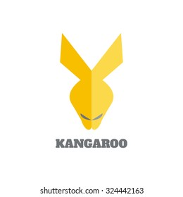 Kangaroo face logo emblem template. Logotype concept icon. Perfect for your design.