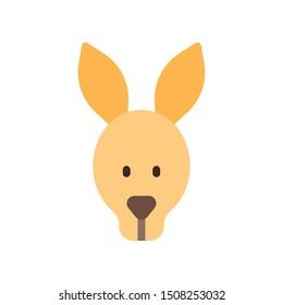 Kangaroo icon in flat style
