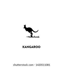 kangaroo icon vector. kangaroo sign on white background. kangaroo icon for web and app