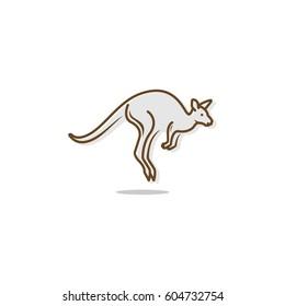 kangaroo jump vector logo