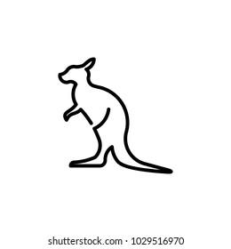 Kangaroo Lineart Logo
