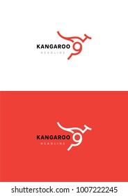 Kangaroo logo template.