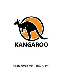 Kangaroo Logo Template Design Vector