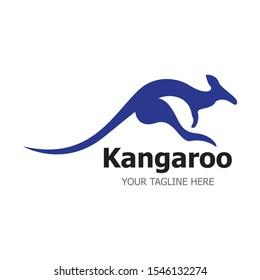 Kangaroo Logo Template vector illustration simple icon