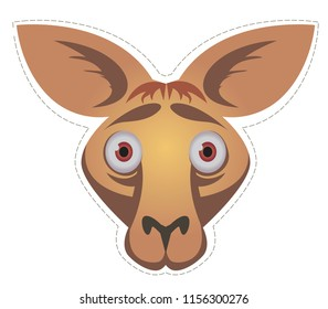 kangaroo  mask  for children's masquerade