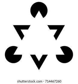 Kanizsa Triangle Illusion Illustration