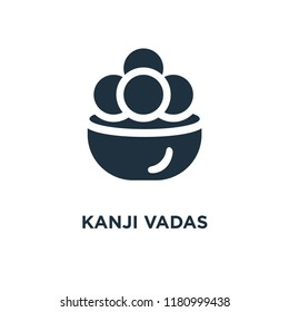 Kanji vadas icon. Black filled vector illustration. Kanji vadas symbol on white background. Can be used in web and mobile.