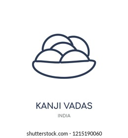 Kanji vadas icon. Kanji vadas linear symbol design from India collection. Simple outline element vector illustration on white background.