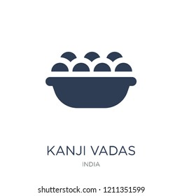 Kanji vadas icon. Trendy flat vector Kanji vadas icon on white background from india collection, vector illustration can be use for web and mobile, eps10