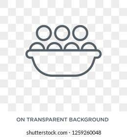 Kanji vadas icon. Trendy flat vector Kanji vadas icon on transparent background from india collection. High quality filled Kanji vadas symbol use for web and mobile