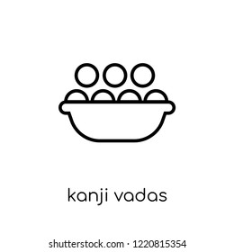 Kanji vadas icon. Trendy modern flat linear vector Kanji vadas icon on white background from thin line india collection, editable outline stroke vector illustration