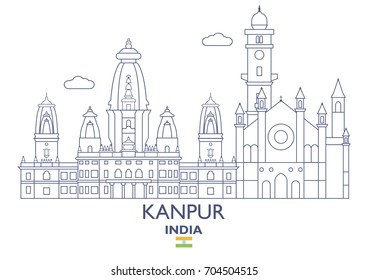 Kanpur Linear City Skyline, India