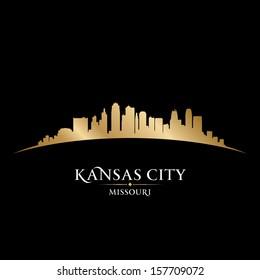 Kansas city Missouri skyline silhouette. Vector illustration