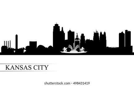 Kansas City skyline silhouette background, vector illustration