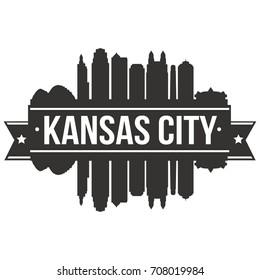 Kansas City Skyline Silhouette City Vector Design Art