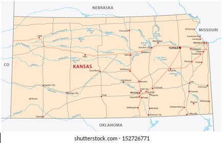 State Map Of Kansas And Oklahoma.Map Of Kansas Images Stock Photos Vectors Shutterstock