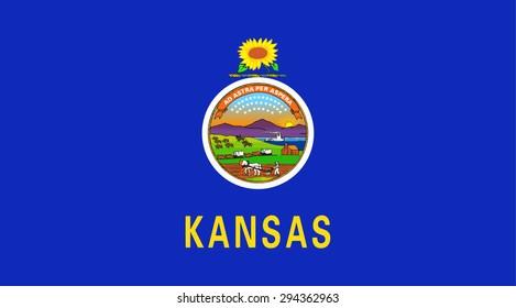 Kansas state national flag. Vector EPS8
