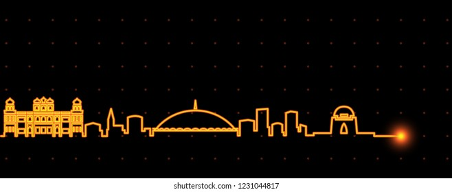 Karachi Light Streak Skyline