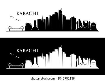 Karachi skyline - Pakistan - vector illustration