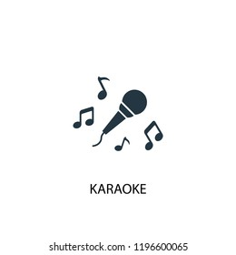 Karaoke icon. Simple element illustration. Karaoke concept symbol design. Can be used for web and mobile.