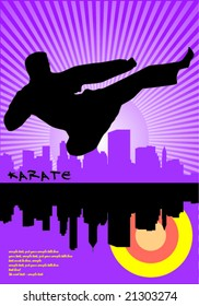 Karate flying kick