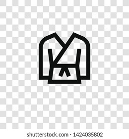 karate icon from miscellaneous collection for mobile concept and web apps icon. Transparent outline, thin line karate icon for website design and mobile, app development