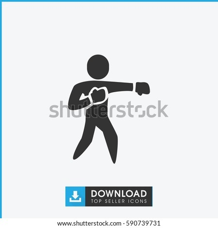Karate Icon Simple Filled Karate Vector Stock Vector Royalty Free