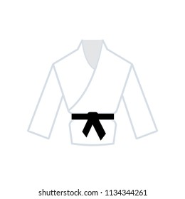 Karate icon vector icon. Simple element illustration. Karate symbol design. Can be used for web and mobile.
