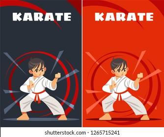 karate kid. design templates