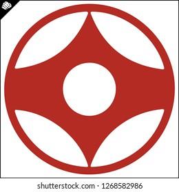 Karate kyokushin kanku  original simbol emblem.