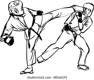 Draw Karate Man Images Stock Photos Vectors Shutterstock