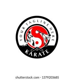 Karate Logo Template Taekwondo Vector