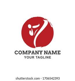Karate logo template vector illustration