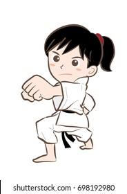 Karate pose / Vector material of Japanese culture