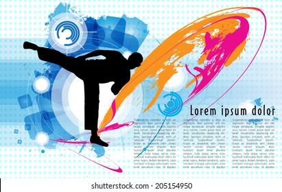Karate poster. Vector