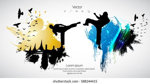 Karate. Sport background