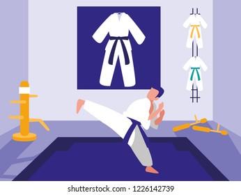 Karate sport design