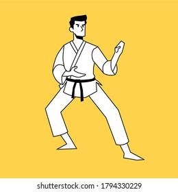 Karate Stance Images Stock Photos Vectors Shutterstock