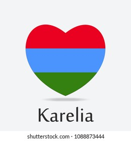 Karelia Flag in Heart Shape